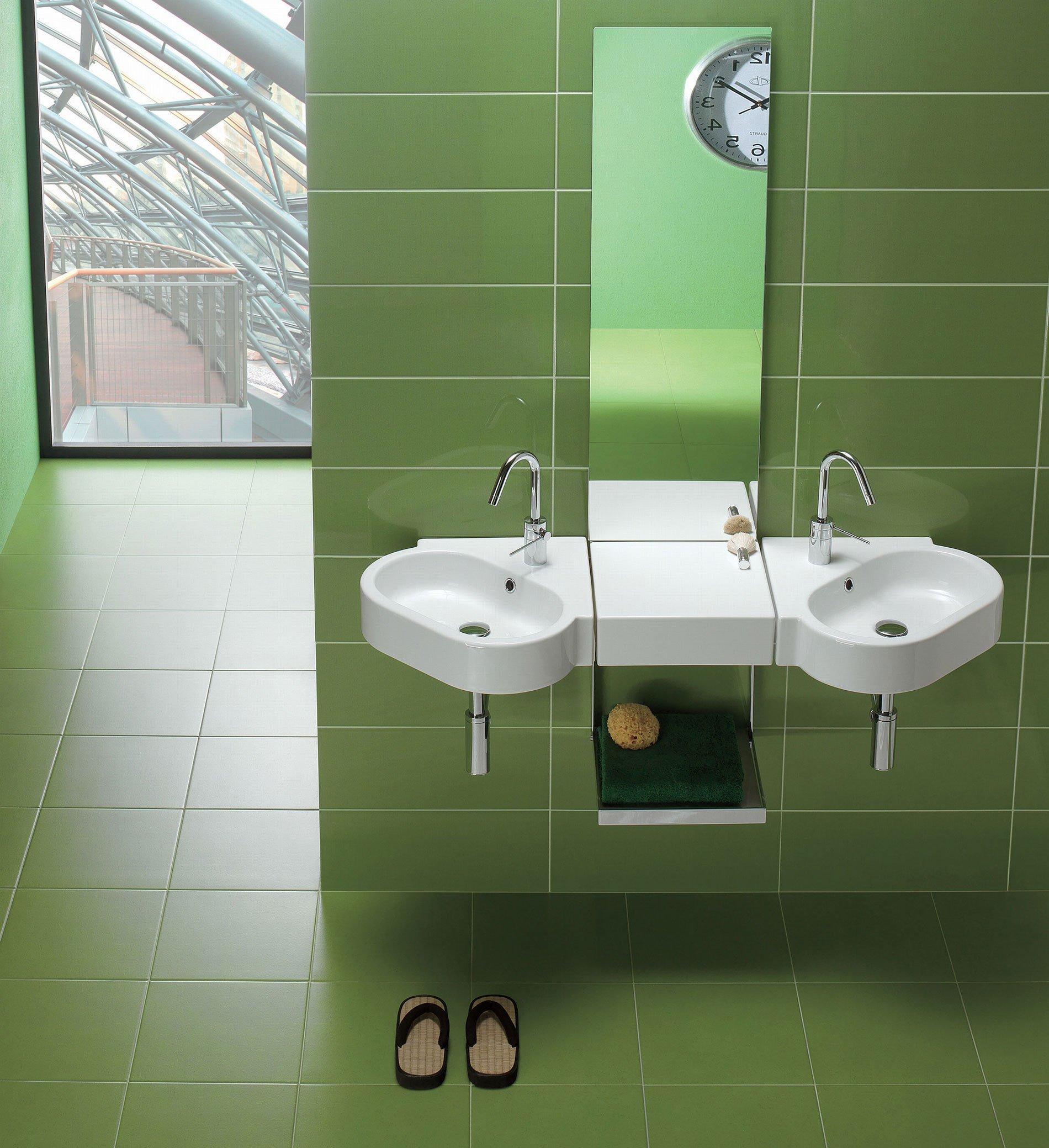 installabile sospeso a muro in linea o ad angolo il lavabo ad angolo della collezione
