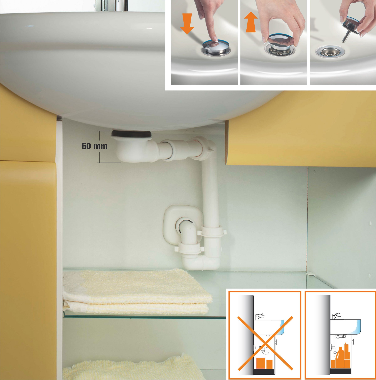 Pi spazio sotto il lavabo cose di casa - Scarico lavandino bagno ...