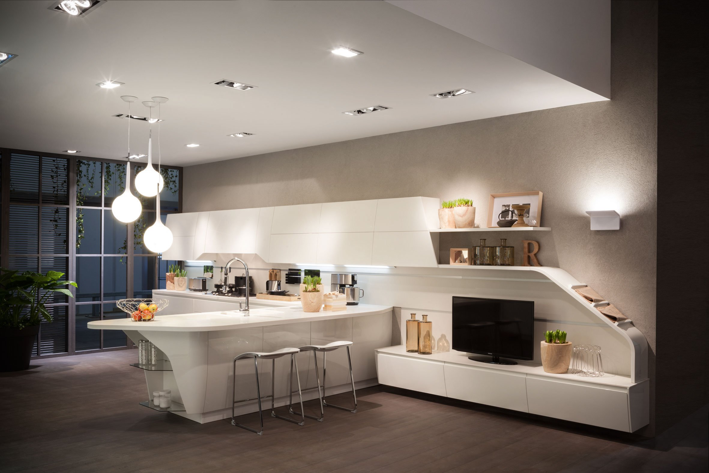 Cucina e soggiorno un unico ambiente cose di casa for Ad giornale di arredamento