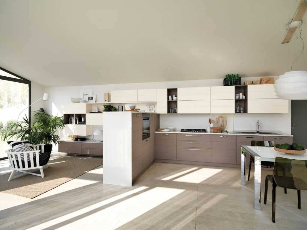 Cucina e soggiorno un unico ambiente cose di casa for Piani di casa senza cantina