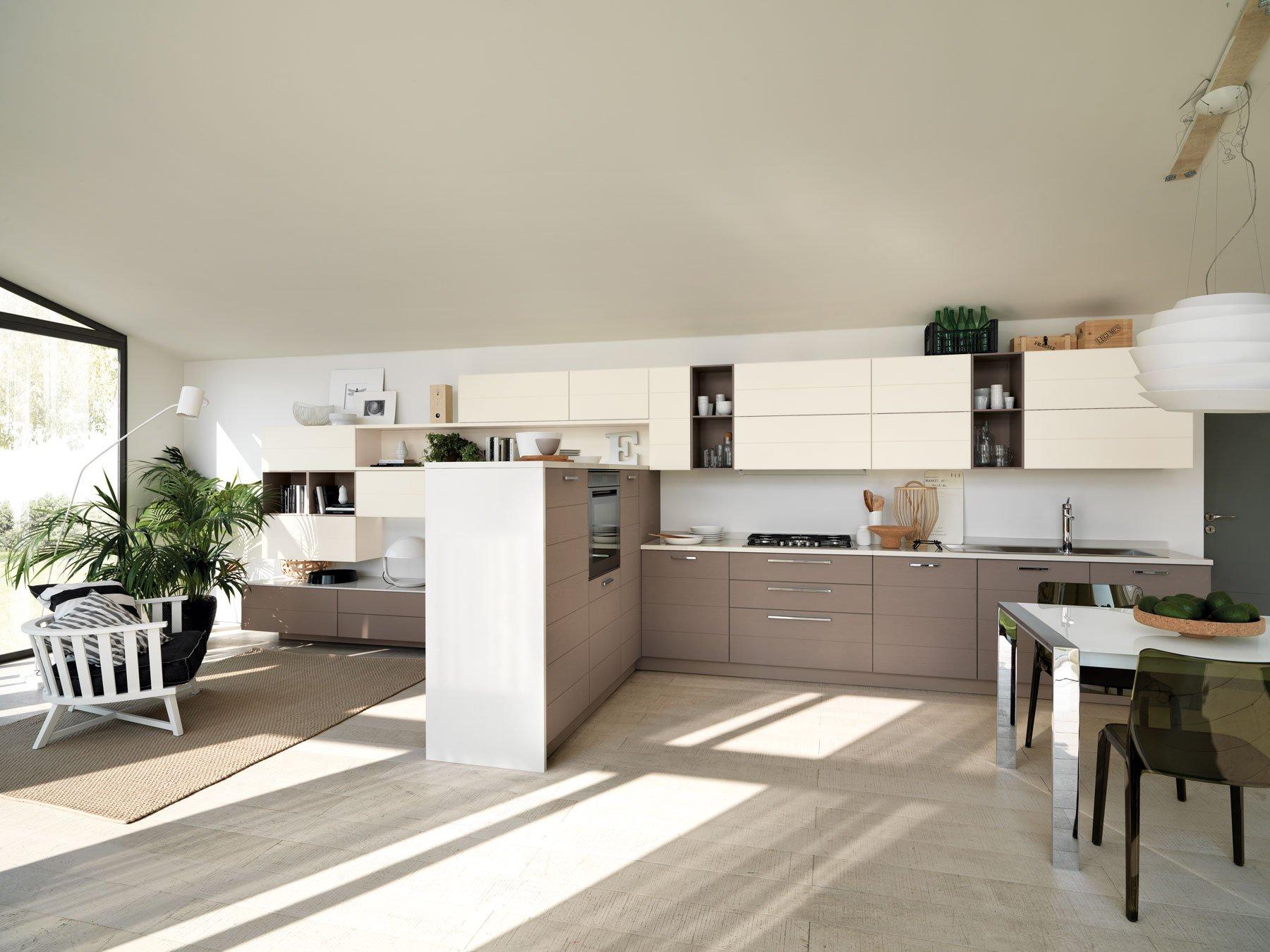 Clicca Sulle Immagini Per Vedere Fullscreen Le Cucine Scavolini (www  #4D5B36 1800 1350 Come Arredare Un Ambiente Unico Cucina Soggiorno
