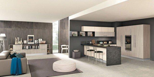 cucine open space con penisola - cose di casa - Cose Di Casa Cucine