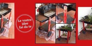 Riciclo & riutilizzo: da vecchio barbecue a portavasi per esterni