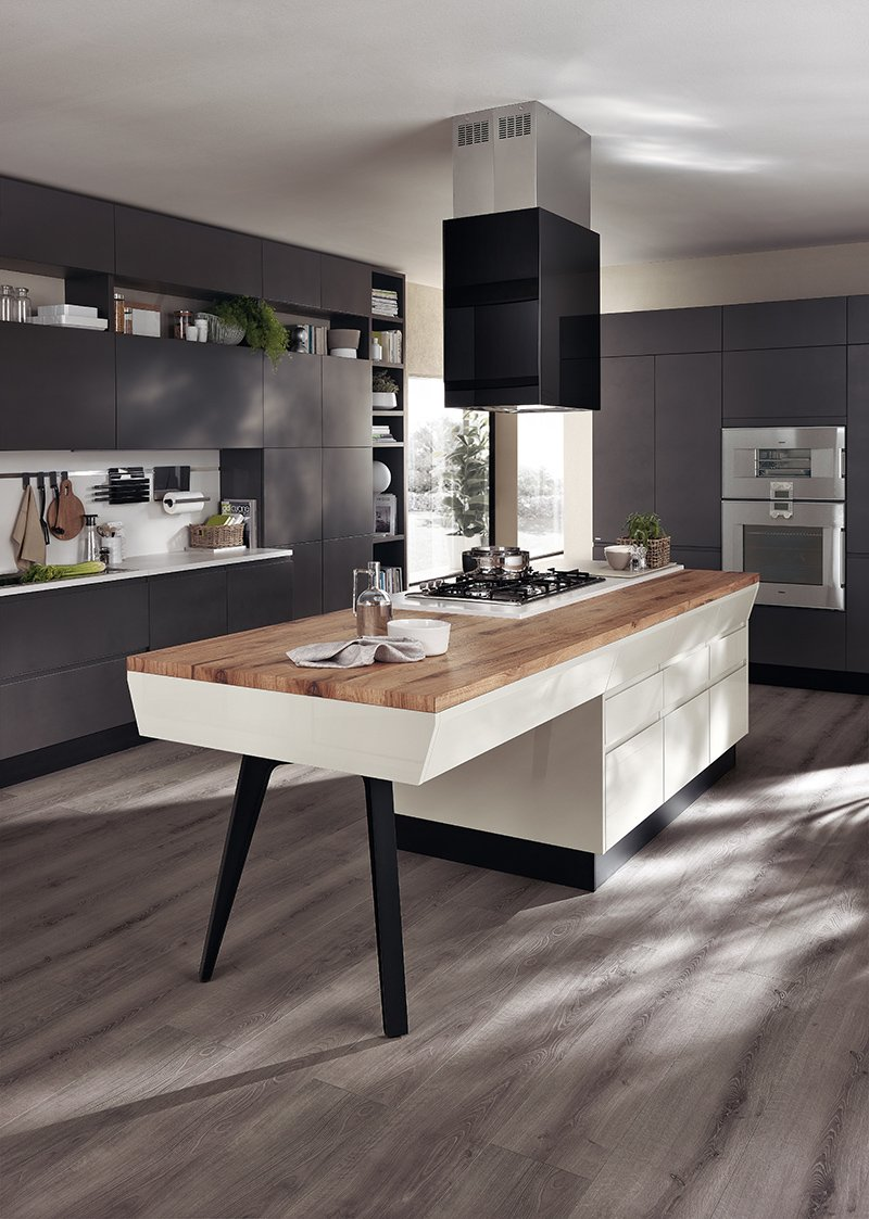 Piani cucina cemento cucina piano effetto vintage with for Piani di cucina
