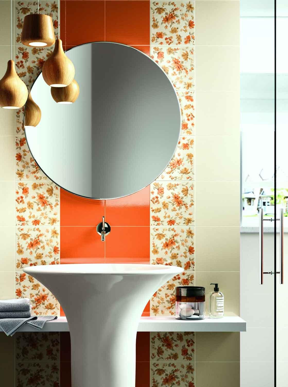 Pareti d cor in bagno cose di casa for Piastrelle con decori
