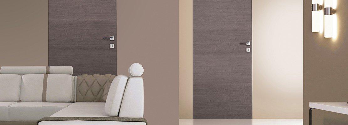 Porte a filo muro design essenziale o finitura d cor - Porte interne a filo muro ...