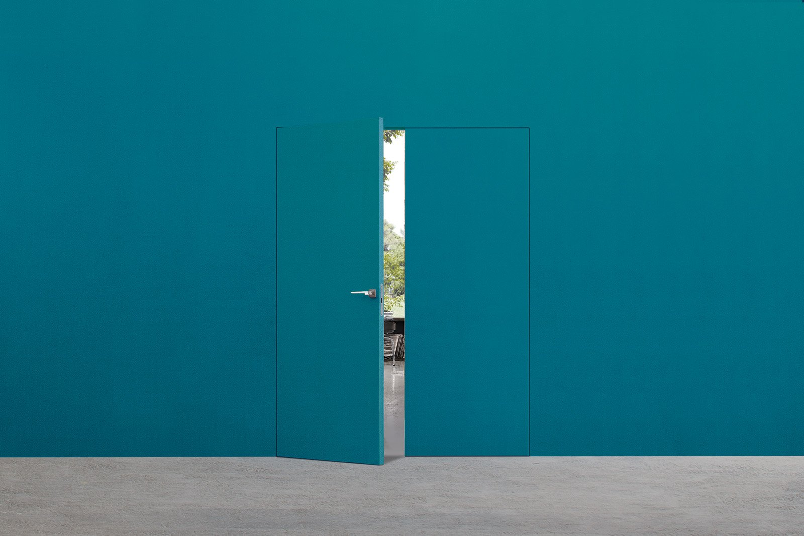 Porte a filo muro design essenziale o finitura d cor - Porta filo muro prezzo ...