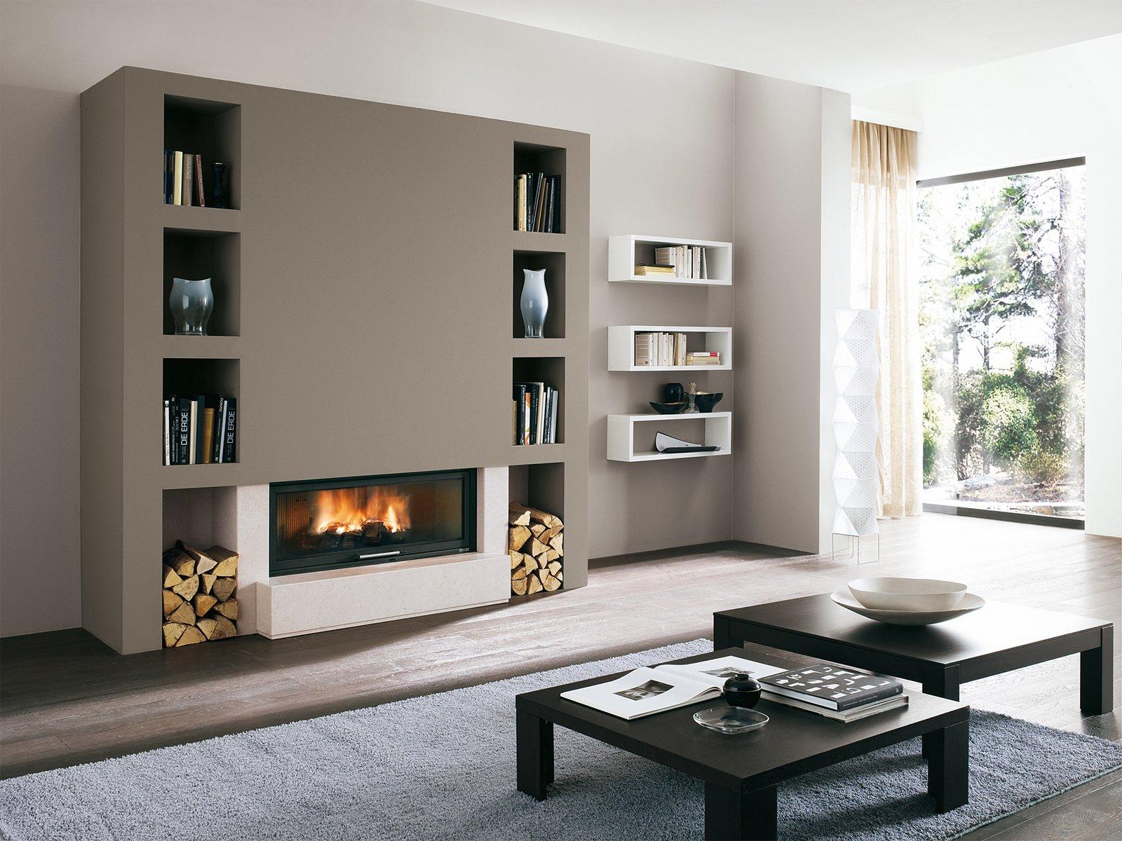 Caminetti per una casa moderna cose di casa for Immagini living moderni