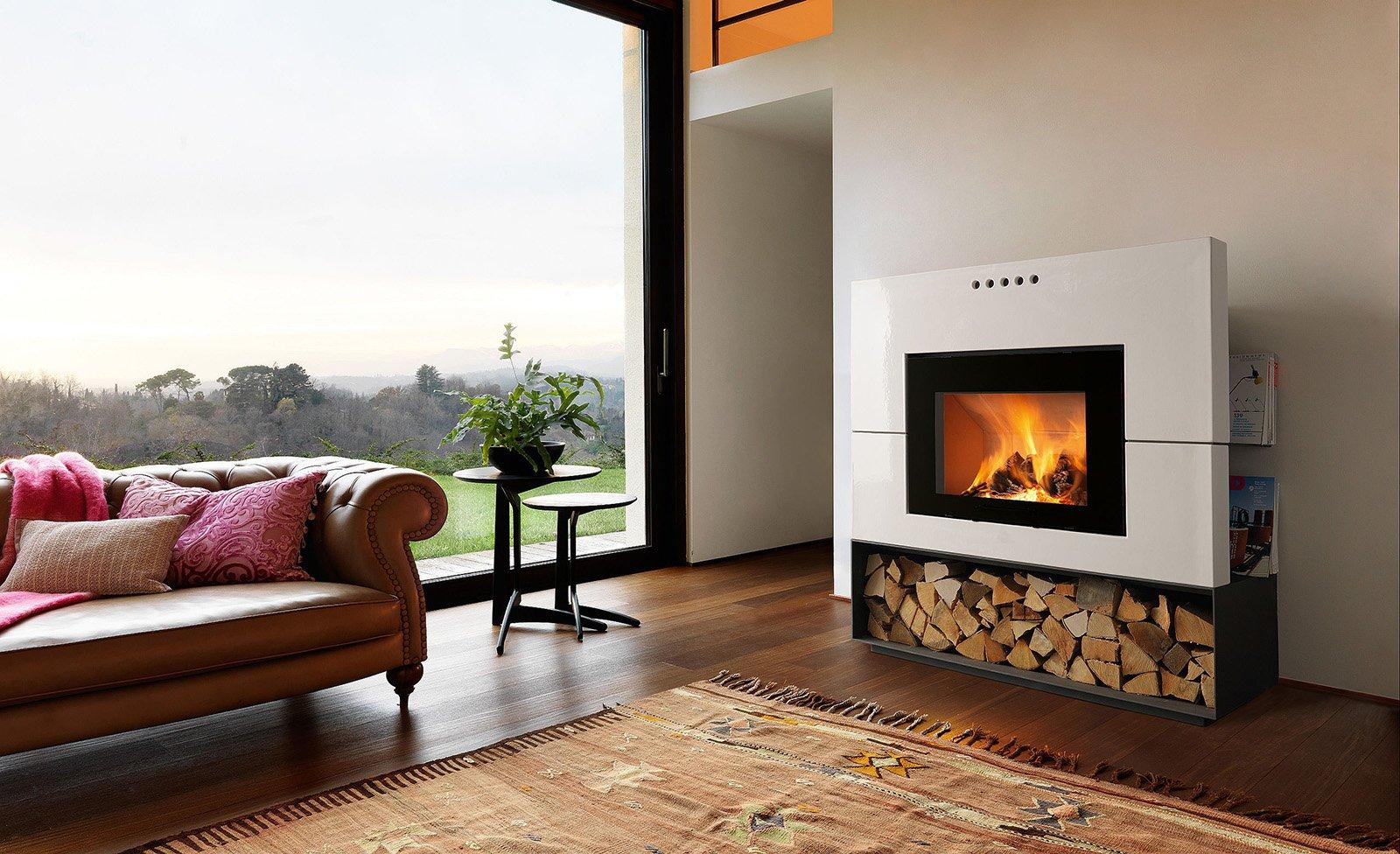 Caminetti per una casa moderna cose di casa - Casa legno moderna ...