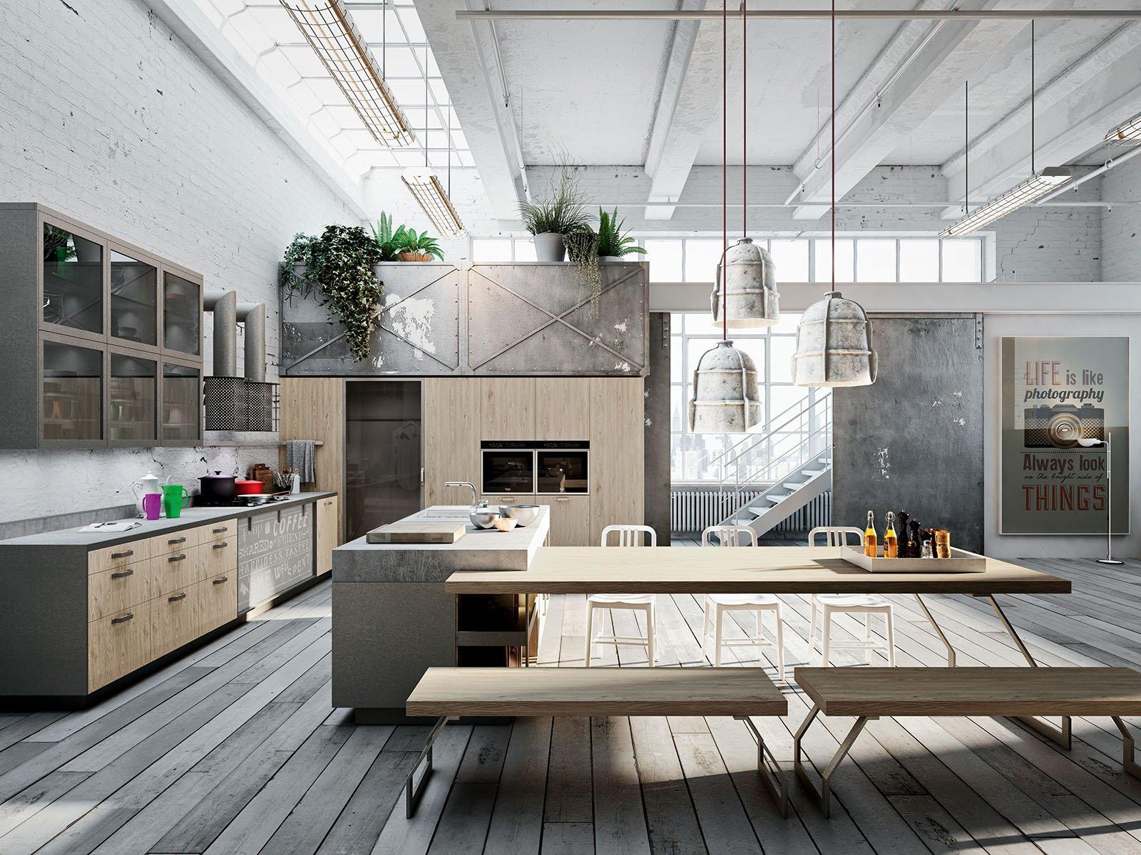 Arredare La Cucina. Tavolo Compreso Cose Di Casa #5B4E41 1600 1200 Arredare Mensole Cucina Moderna