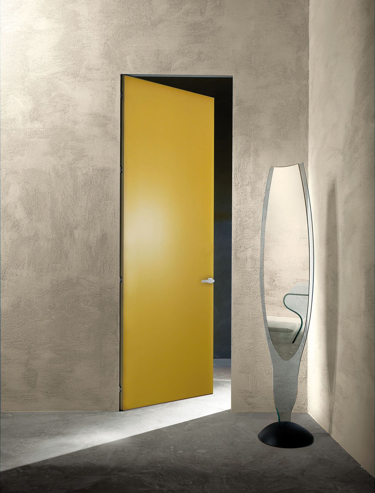 Porte a filo muro design essenziale o finitura d cor for Porte a porte