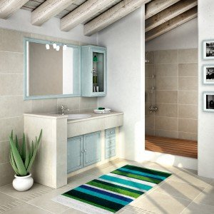 Mobile bagno: classico, effetto muratura - Cose di Casa