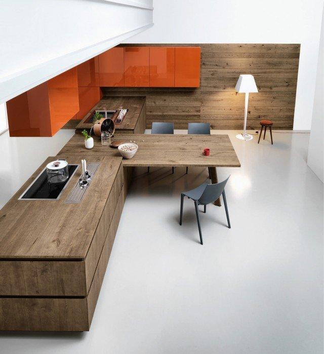 Scegliere la cucina con un tocco di rosso cose di casa for Table de cuisine a fixer au mur