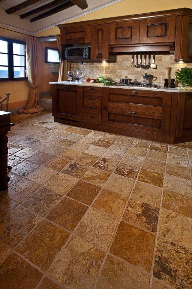 Scegliere il pavimento della cucina effetto legno parquet cotto cose di casa - Piastrelle color legno ...