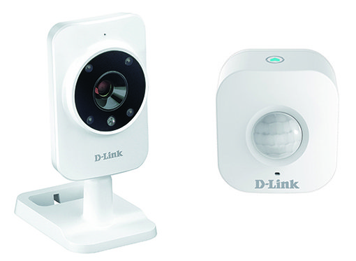La gamma mydlink™ Home comprende due monitor home video, un rilevatore di movimento e una spina intelligente da configurare attraverso una applicazione gratuita. Sarà disponibile nei negozi a partire dal 7 ottobre. In foto, il monitor e il sensore di movimento. www.dlink.com/it