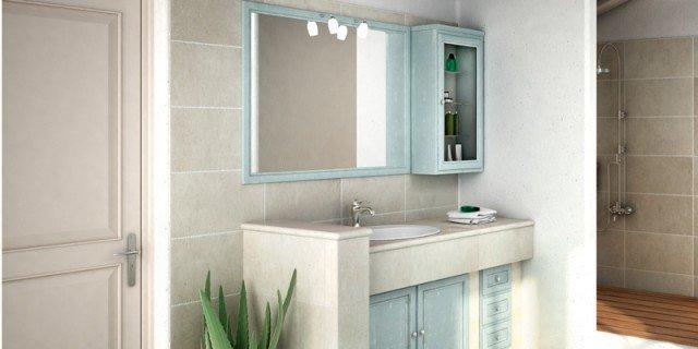 Mobile bagno: classico, effetto muratura