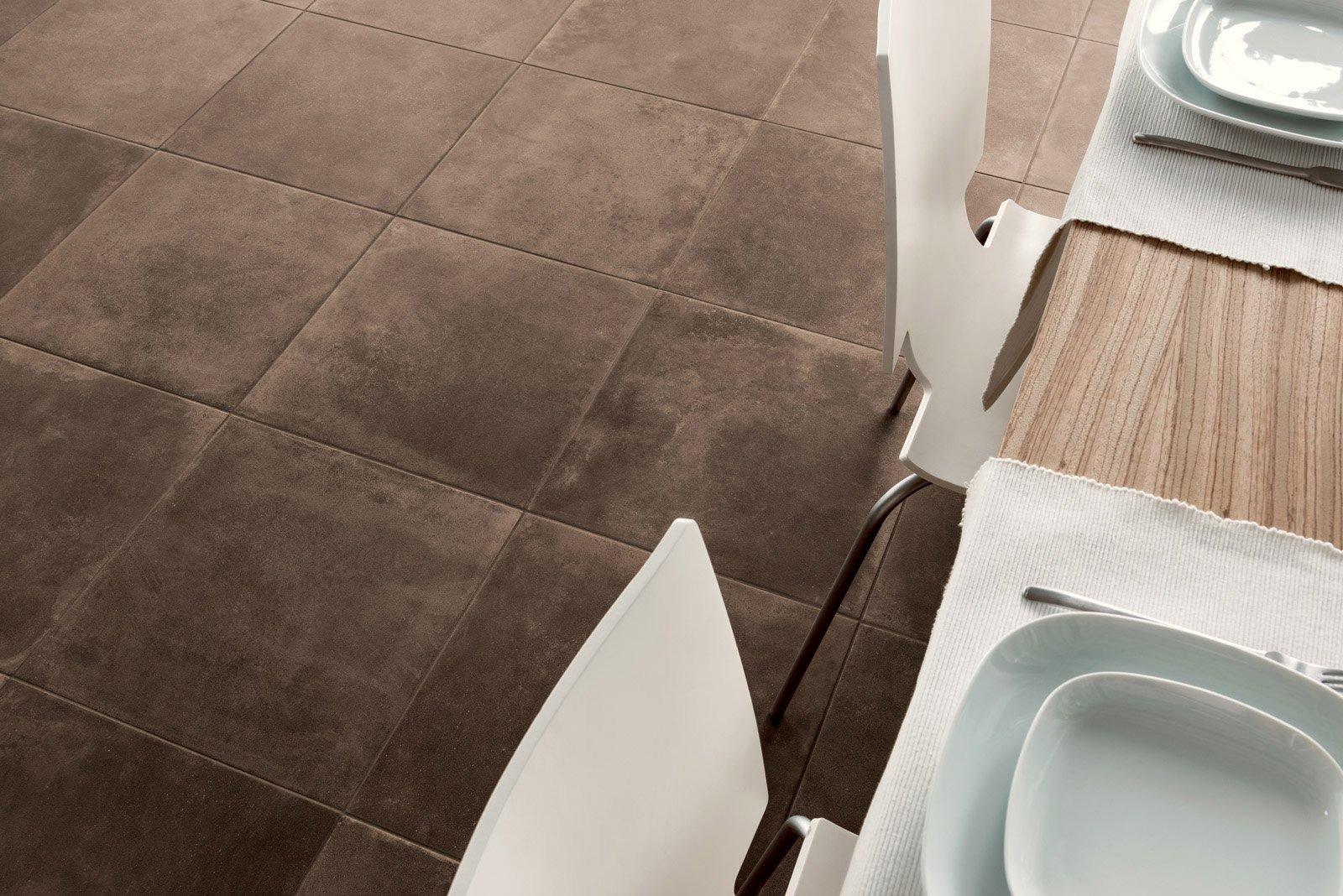 Scegliere il pavimento della cucina effetto legno parquet cotto