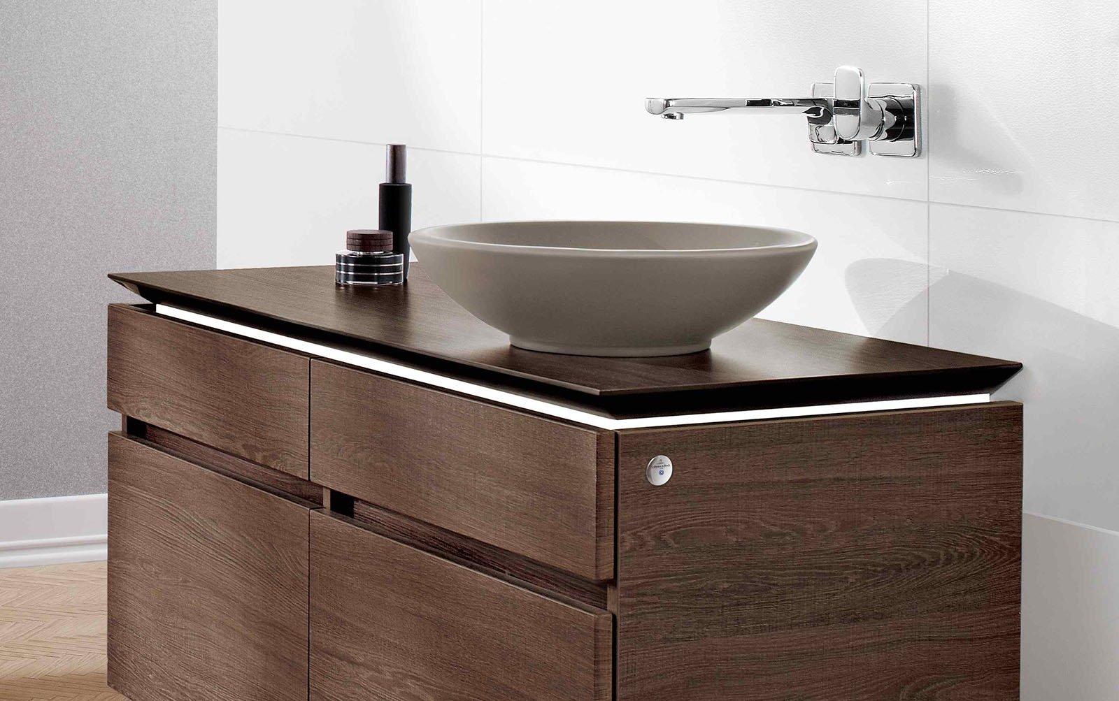 Lavabo a bacinella dappoggio Timber CeramicPlus di Villeroy & Boch ...