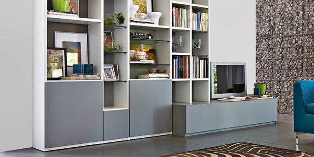 """Librerie componibili: i mobili più """"importanti"""" del soggiorno"""