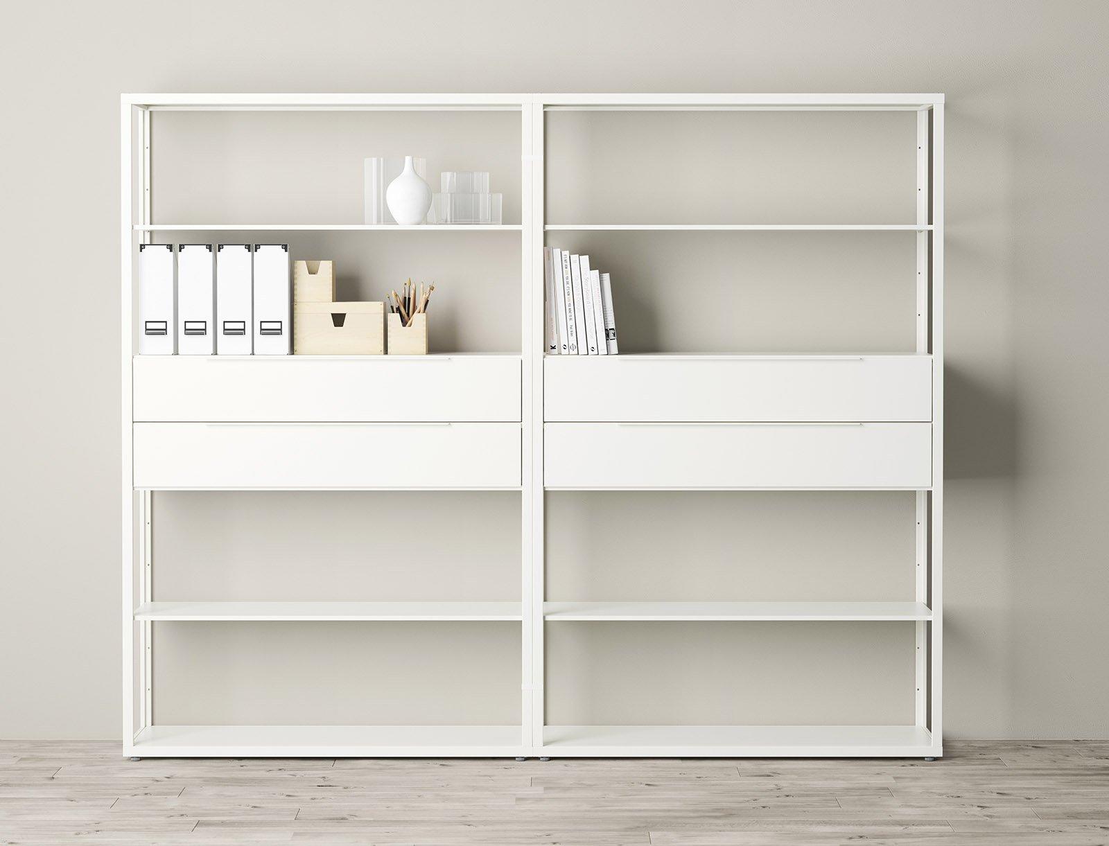 Librerie componibili i mobili pi importanti del for Mensola laccata bianca