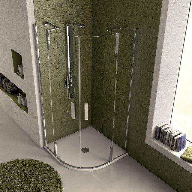 Docce angolari misure e forme che risolvono problemi di spazio cose di casa - Dimensioni doccia standard ...