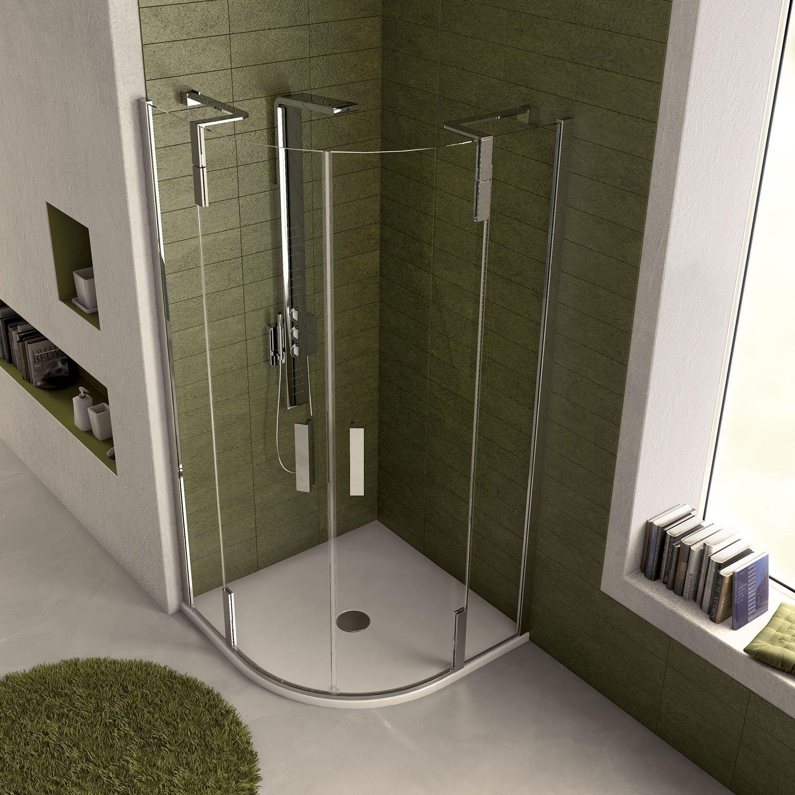 Docce angolari misure e forme che risolvono problemi di - Piatto doccia piccole dimensioni ...