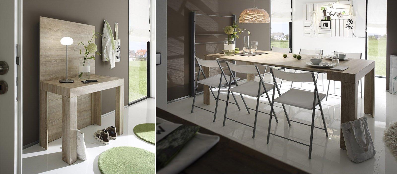 i tavoli allungabili risolvono diversi problemi di spazio in quanto trasformabili ospitano pi persone oppure cambiano funzione da console o tavolino da