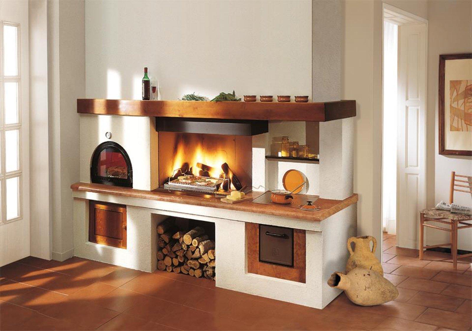 La cucina a legna Carlotta di Piazzetta è predisposta per lincasso ...