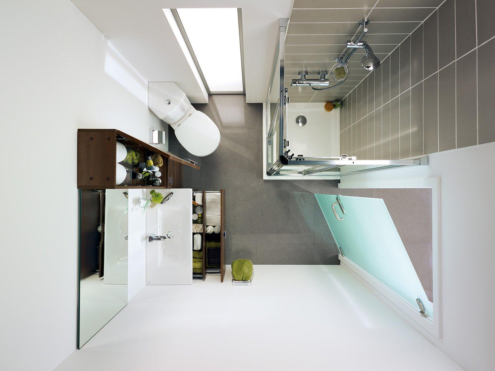 Bagno sfruttare l 39 angolo cose di casa - Amenagement salle de bain 2m2 ...