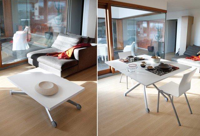 il tavolino Esprit di Domitalia si trasforma da tavolino a tavolo da ...
