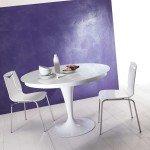 Tavoli con sostegno centrale cose di casa - Tavolo rotondo allungabile bianco ...