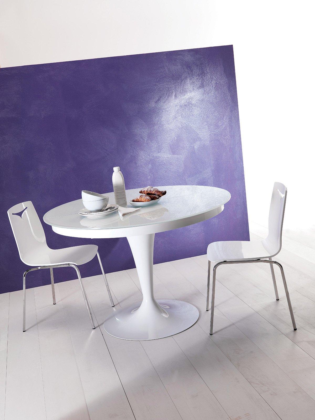 Il Tavolo Da Pranzo Allungabile Eclipse Di Ozzio Design Ha Base In  #493C6E 1200 1600 I Migliori Piatti Della Cucina Toscana