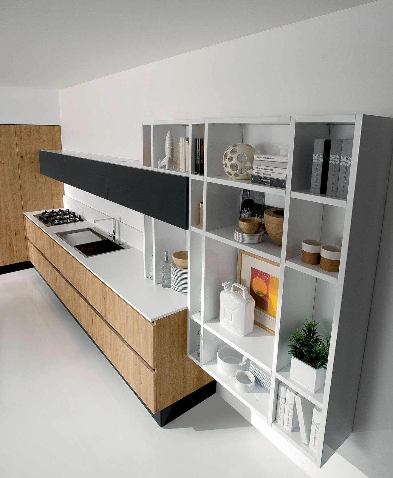 aran cucine volare cucina scaffali cose di casa. Black Bedroom Furniture Sets. Home Design Ideas