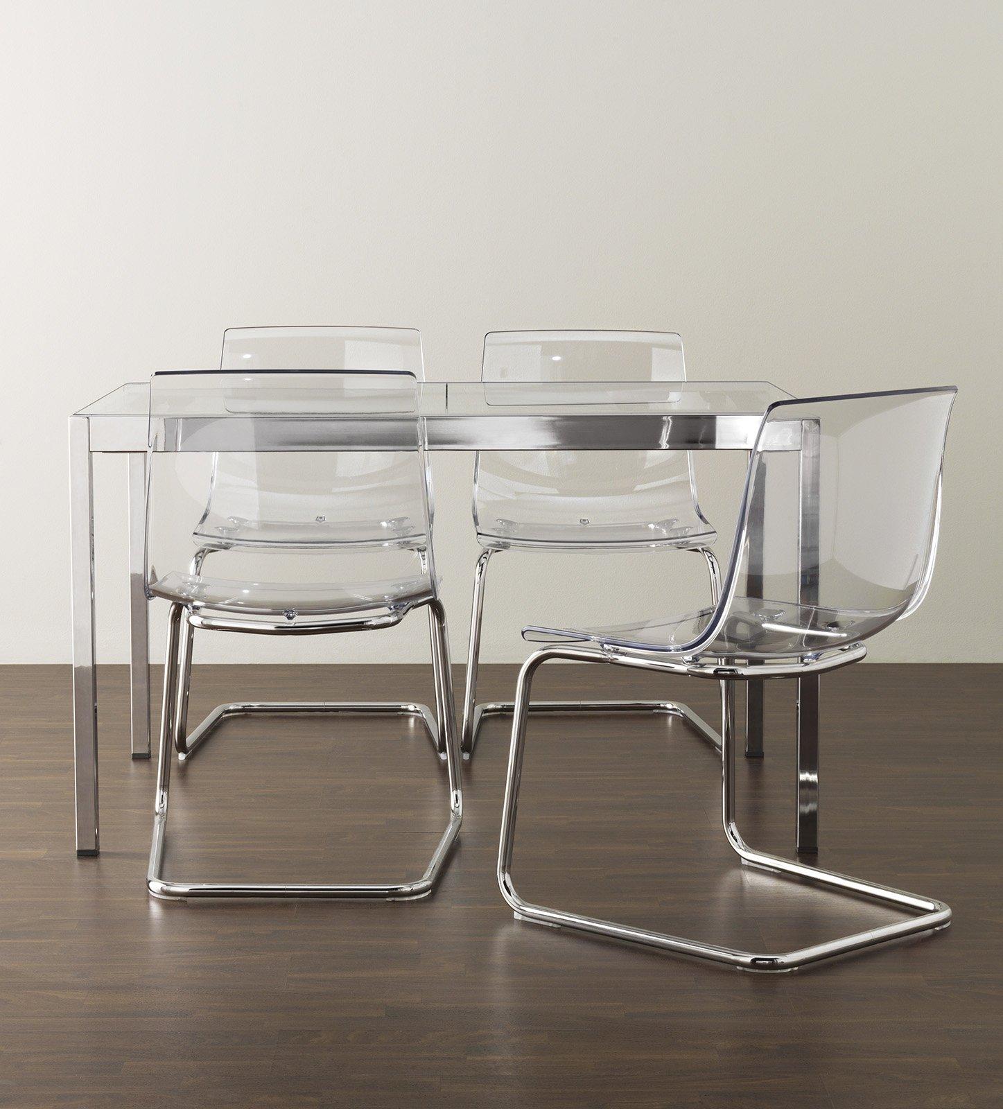 Ikea tobias sedie trasparenti cose di casa for Sedie ikea soggiorno