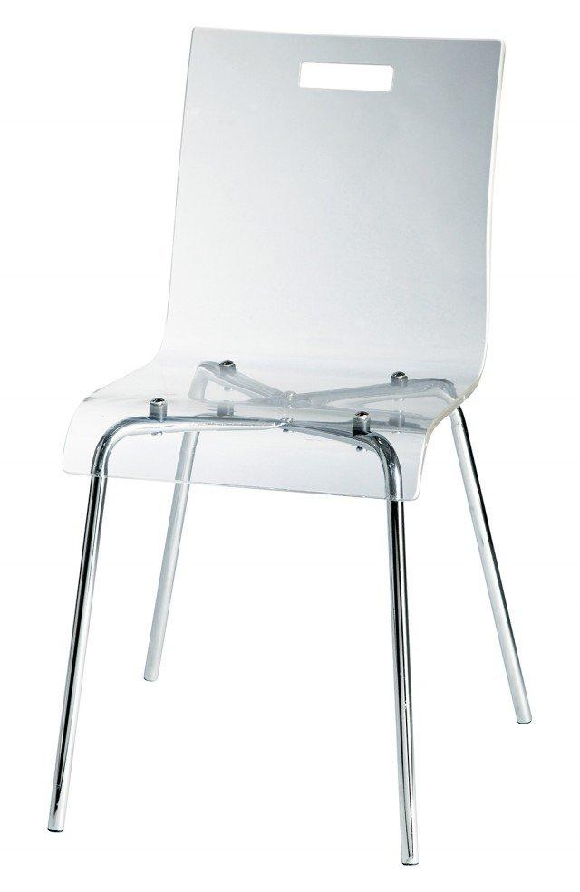 La sedia trasparente Glass di Maisons du Monde è in materiale ...
