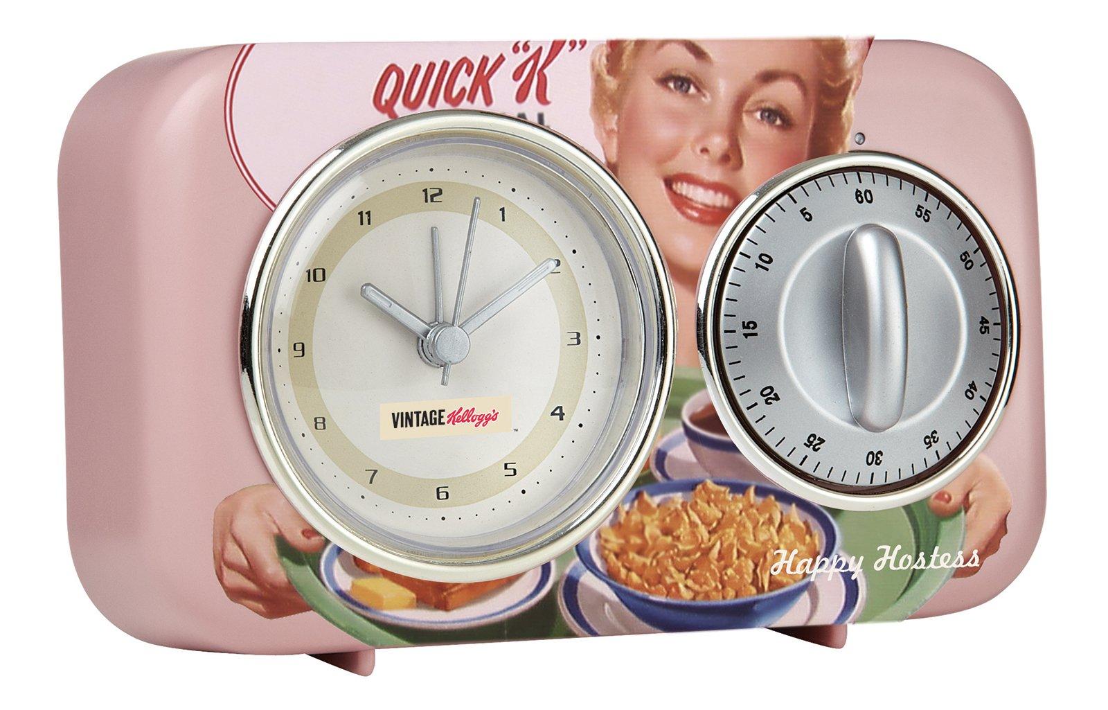 Timer&Sveglia Kellogg's di Maiuguali, in materiale plastico e metallo. L 15 x H 8 cm. 21 euro. www.maiuguali.it