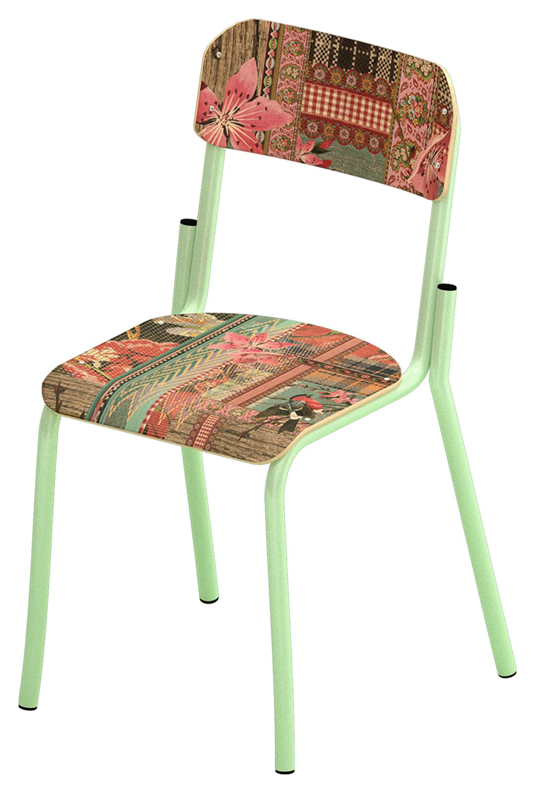 Ricorda le sedie in formica degli anni Sessanta questa seduta di Miho. Misura L 52 x P 52 x H 86 cm. Prezzo a partire da 149 euro. www.mihounexpected.it