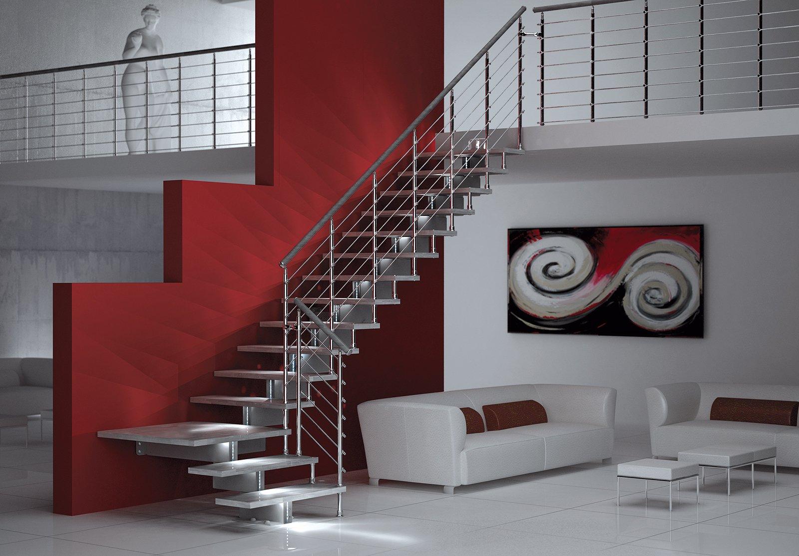 Scale prefabbricate modelli a giorno visivamente leggeri for Il costo di costruire la propria casa