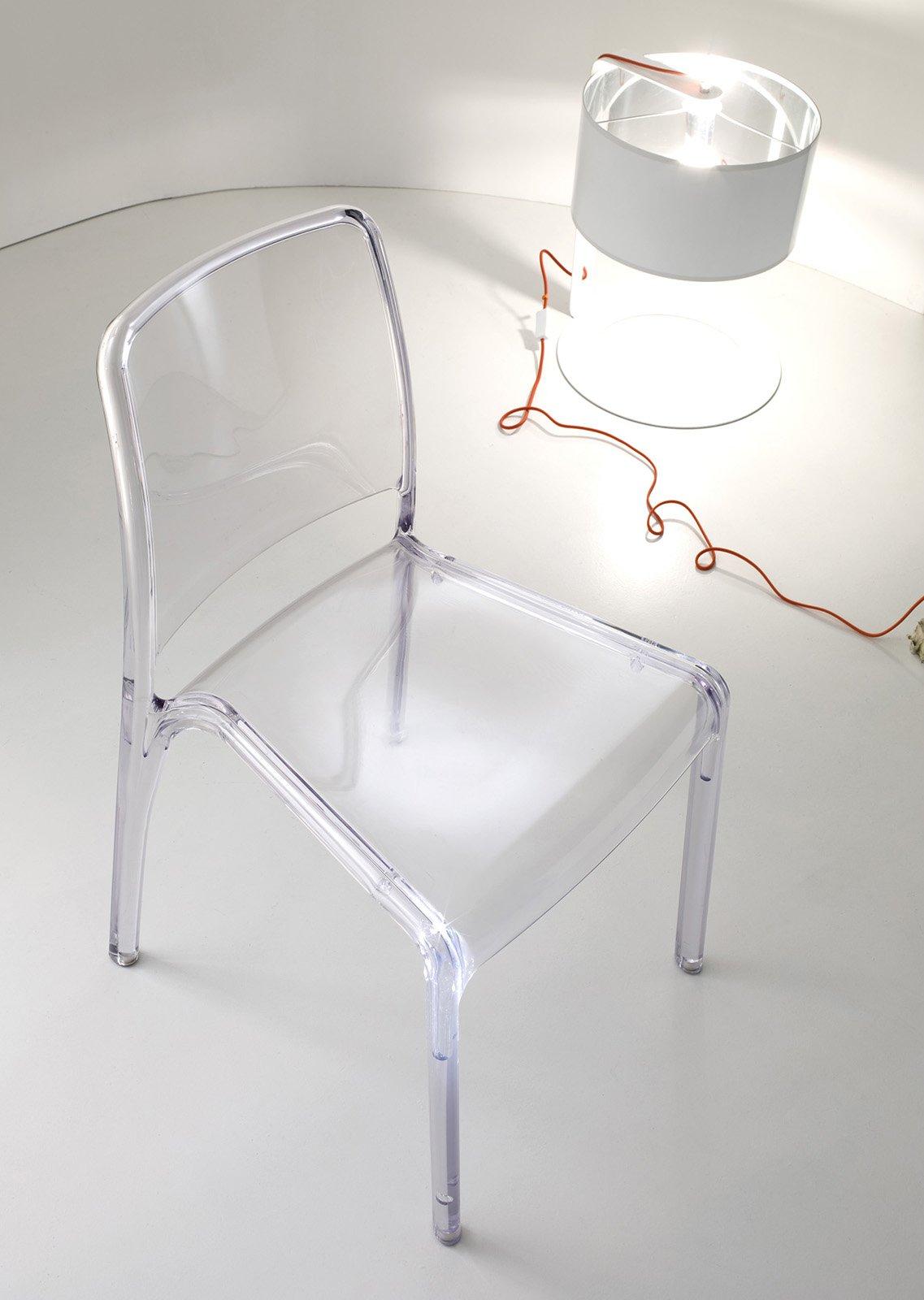Sedie trasparenti e la stanza sembra pi grande cose di for Sedie design policarbonato