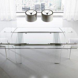 Tavoli Allungabili Ricci Casa.Tavoli Piano In Vetro Gambe Protagoniste Cose Di Casa
