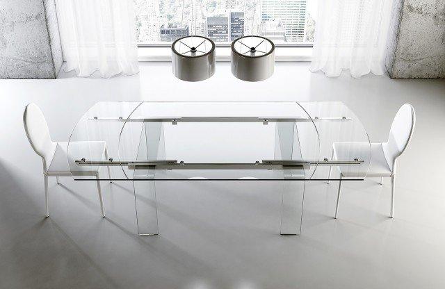 Tavolo Cristallo In Vetro.Tavoli Piano In Vetro Gambe Protagoniste Cose Di Casa