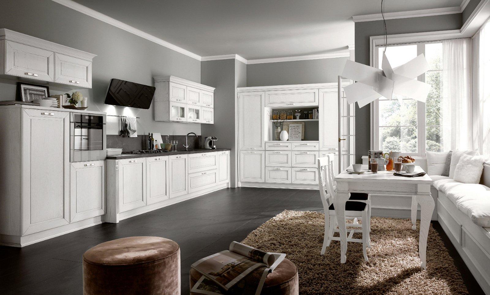 Nuove cucine con maniglia protagonista cose di casa - Immagini di cucine classiche ...