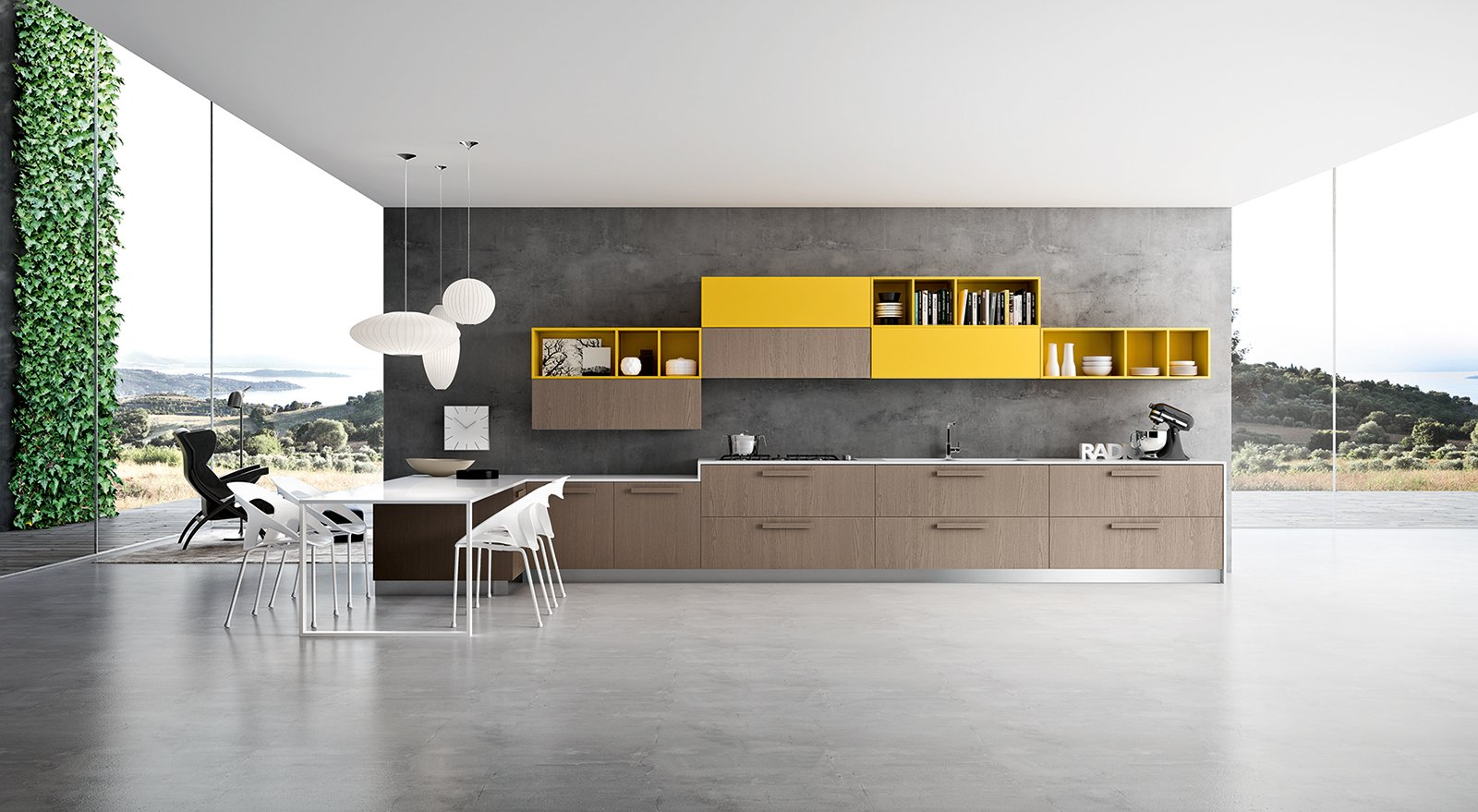 Nuove cucine con maniglia protagonista cose di casa - Immagini cucine moderne ...