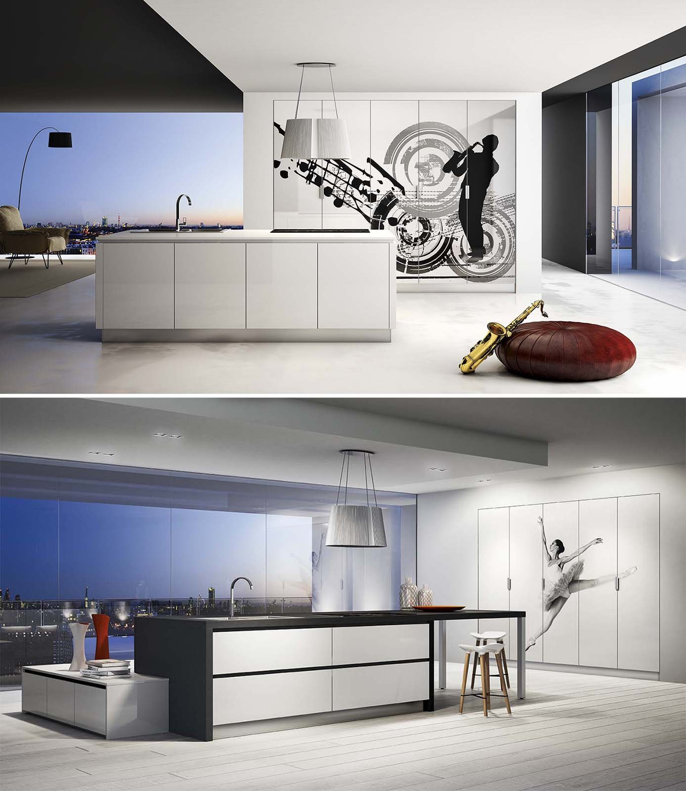Cucine decorate per un ambiente originale e vivace cose di casa - Cucine decorate ...
