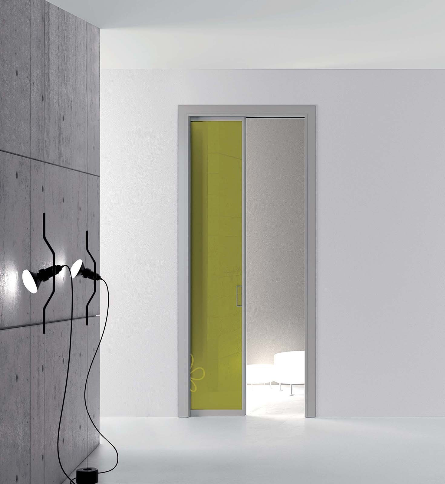 Porte scorrevoli in vetro a scomparsa o esterno muro - Porte scorrevoli a vetri ...