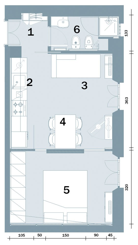 Progetto casa 40 mq nuova costruzione for Progetto casa piccola