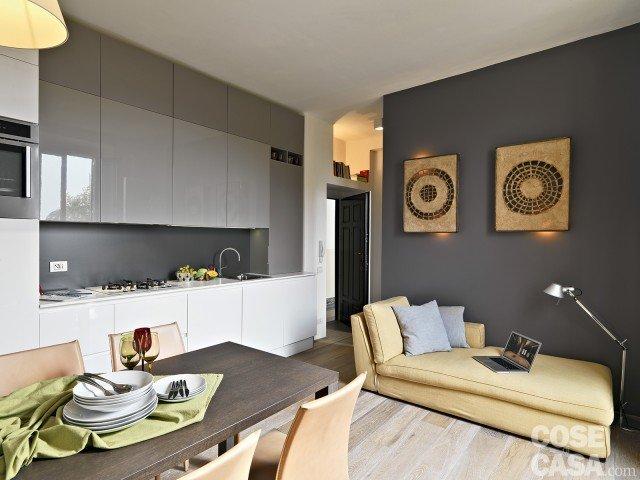 Casa piccola 35 mq con ambienti trasformabili e 6 comode zone cose di casa - Arredare cucina 4 mq ...