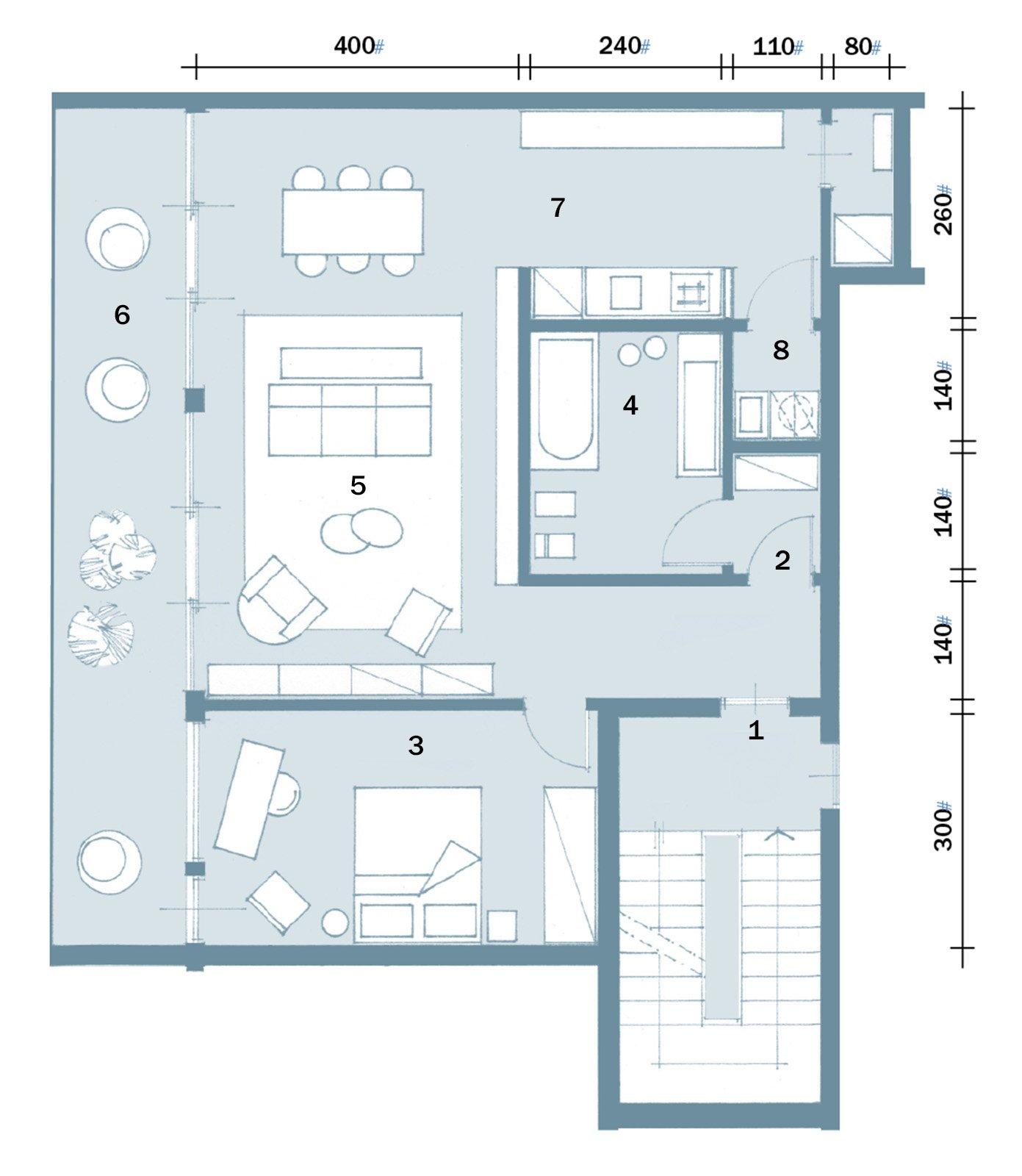 Maxi bilocale con terrazzo perfetto per due cose di casa for Moderni progetti di case su due livelli