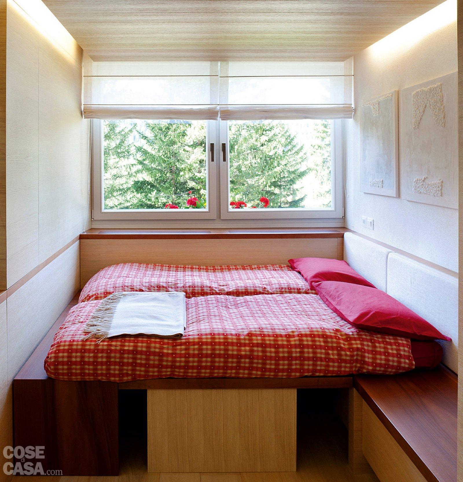57 mq una casa con stanze trasformabili cose di casa - Camera da letto in muratura ...