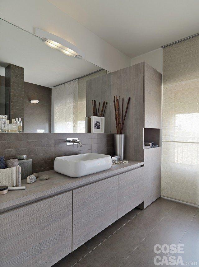 Vivere in mansarda nuovo look per la casa sottotetto - Mobile bagno con lavatrice incassata ...